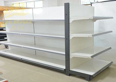 China Double Side Commercial Steel Racks Hypermarket, Slanted Arms Cold Rolled Steel supplier