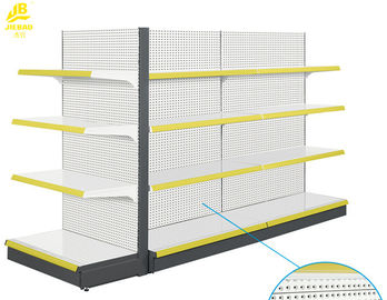 Double Sided Supermarket Shelf Rack Convex Back Panel 1000㎡ Hypermarket Used