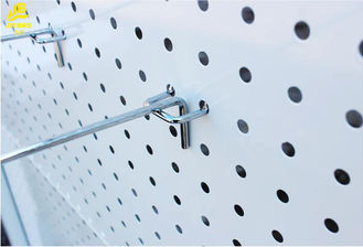 Steel Single Peg Board Hooks , Electroplating Heavy Duty Metal Pegboard Hooks