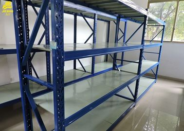 China Storage Heavy Duty Steel Racks With Safety Bins 2000/2500mm Height RAL Blue Color supplier