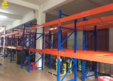Pipe Storage Warehouse Pallet Racking With Upright Guard / Bolts Custom Color