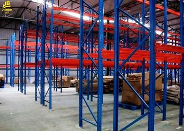 Corrosion Resistant Warehouse Pallet Racking Assembly Columns Box Beams