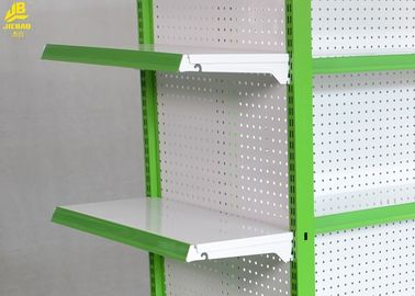 Light Duty Pharmacy Display Racks 5 Steel Layers Green Columns Middle Panel 0.5MM