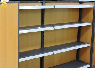 Convenience Store Wood And Metal Shelves 30kg/ Layer Load Capacity