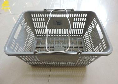 Gray Commercial Shopping Baskets , 48.5X33X28cm Shopping Baskets For Retail Stores