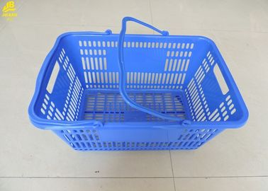 30L Volumes Hand Held Shopping Baskets 50 X 35 X 25.5cm Size Blue Color