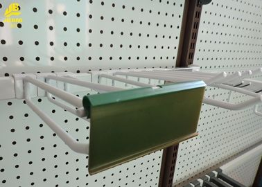 Durable Steel Heavy Duty Pegboard Hooks With PVC Price Holder White Color