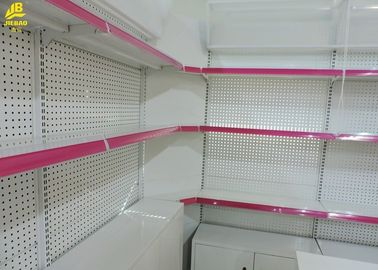 Wall Side Grocery Display Racks With Corner Shelf Cabinets 30kg/ Layer Load