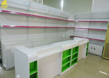 Perforated Backing Pharmacy Display Racks Optional Light Box / Cabinet