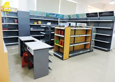 China Steel Cigarette Display Convenience Store Shelving Powder Coated Surface supplier
