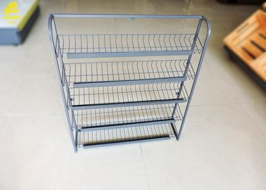 Metal Snack Display Racks Countertop , 4 Layer Potato Chip Rack Snack Display Rack