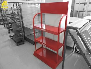 Coca Cola Beverages Display Racks For Grocery Shop Red Colour 100KG/Layer Welded