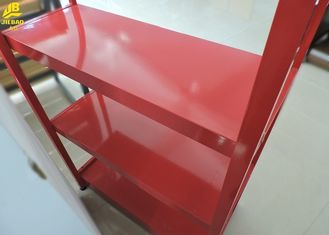 Promotion Display Convenience Store Shelving Red Colour Customized Logos Small Size