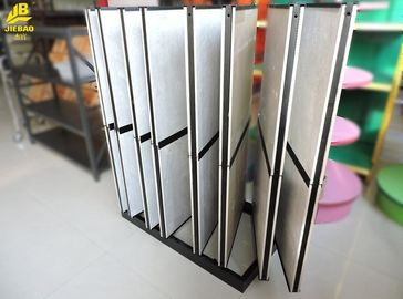 Cold Rolled Steel Stone Sample Display Racks , Mini Market Ceramic Display Shelves