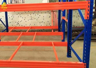 Assembly Blue Columns Warehouse Pallet Racking Load Weight 4000KG 3 Levels 6M High
