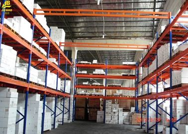 3 Levels Warehouse Pallet Racking Blue Disassembly Columns Steel Q235 6M High