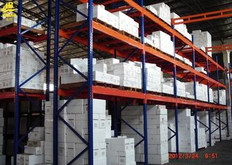 Heavy Duty Teardrop Warehouse Pallet Racking 100x48x1.5mm Beam Sections