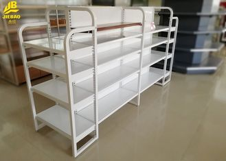 Light Duty Mini Store Display Racks Of MDF Board And Steel Board Q235 Cream White