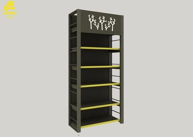 Heavy Duty Supermarket Storage Racks For Oils / Rice Display Light Gray Color