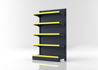 Steel Grocery Store Shelving Systems , Anti Corrosion Gondola Store Shelving