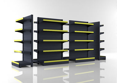 China Matt Gray Convenience Store Shelving With Middle Back Panel 1200x980x1800mm supplier