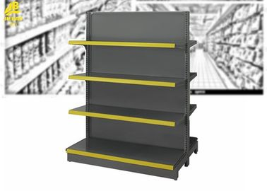 Customized Size Supermarket Steel Racks Double Side And Wall Side Installation