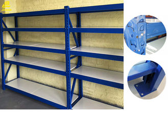 China Multi Layer Boltless Metal Shelving Units / Colored Warehouse Storage System supplier