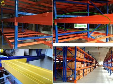 Durable Industrial Pallet Shelving , Customized Teardrop Racking System