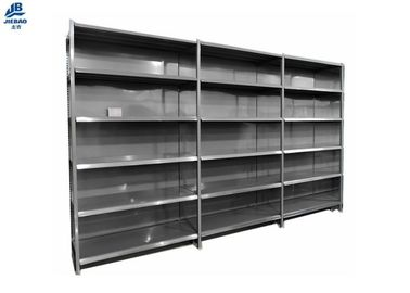 Space Saving Supermarket Shelf Rack , Metal Retail Shelving Systems