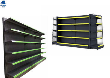 Multifunction Grocery Store Shelving Systems , Dustproof Readymade Showroom Racks