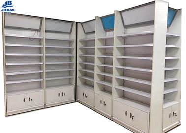 Adjustable Shop Racks And Shelving / Departmental Store Racks With Cabinet