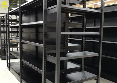Industrial Wood And Metal Display Shelves / Warehouse Wood And Metal Shelf