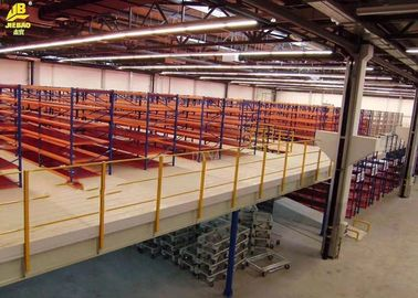 Double Deep Medium Duty Rack , Warehouse Pallet Shelving 100x70x2.2mm Columns