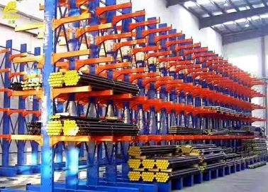 Wall Mount Cantilever Storage Rack System , Double Sided Cantilever Rack For Sheet Metal