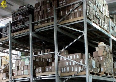 Warehouse Storage Push Back Pallet Rack With Special Gravity Dustproof