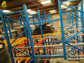 China Industrial Push Back Pallet Rack System With Multi Layers Customized Size supplier