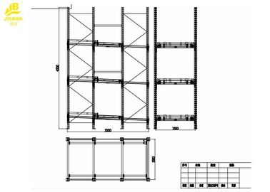 Heavy Duty Push Back Pallet Rack With Large Storage Capacity Eco Friendly