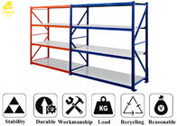 China 0.5mm Layer Medium Duty Steel Rack Cold Rolled Steel Material 68*35*1.0mm Beam company