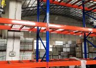 China Narrow Aisle Warehouse Pallet Racking Of Blue Colour Columns With Customized Sizes company