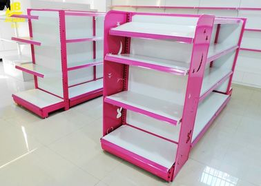 China Metal Material Convenience Store Display Racks 0.5mm Pegboard Middle Back Panel factory