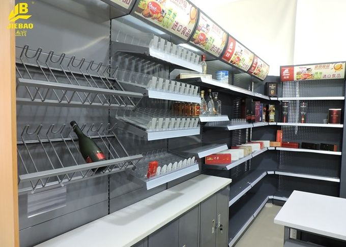 Steel Cigarette Display Convenience Store Shelving Powder Coated Surface