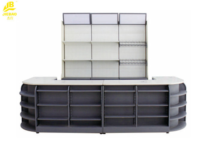 3400x600x2100mm Supermarket Checkout Stands , CR Steel Modern Retail Checkout Counters